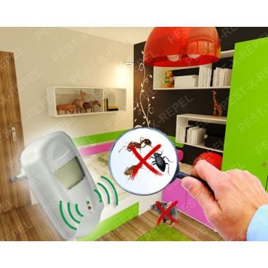 Aparat cu unde electromagnetice impotriva insectelor taratoare si a rozatoarelor (Pestmaster AG230) - 230 mp
