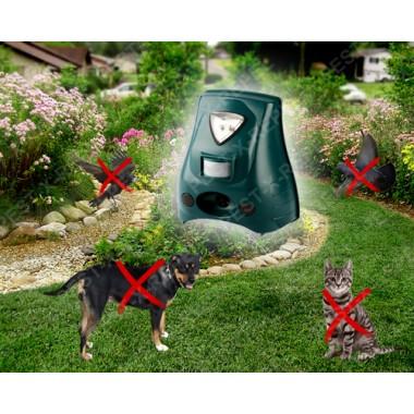 Aparat portabil cu senzor de miscare, alarma si lampa stroboscopica impotriva cainilor, pisicilor si pasarilor (Rep 20) - 40 mp