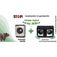 2 aparate antirozatoare (DUAL PestRepeller, Ag250)