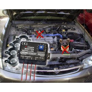 Aparat cu 4 difuzoare pentru autovehicule impotriva jderilor (Kemo M094)