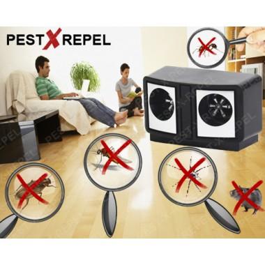 Aparat cu ultrasunete Dual Pest Repeller (PestMaster) - 200 mp