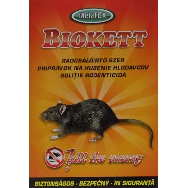 Momeala raticida pentru soareci, sobolani Biokett 200gr.
