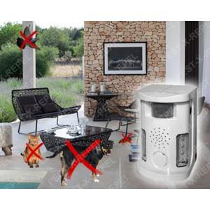 Aparat cu ultrasunete, alarma acustica si flash luminos impotriva animalelor si pasarilor (Pestmaster UAF 03) - 70 mp