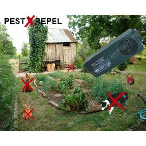 Generator ultrasunete anti rozatoare, caini, pisici (Kemo FG015) - 200 mp