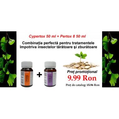 Solutii antiinsecte (Cypertox 50 ml + Pertox 8 50 ml)